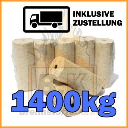 1400kg Holzbriketts mit Loch