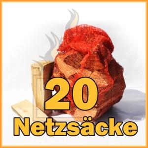 20 Netzsäcke Brennzolz 25cm