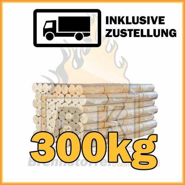 300kg Holzbriketts ohne Loch