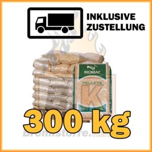 300 kg Holzpellets in 15 kg Plastiksäcken