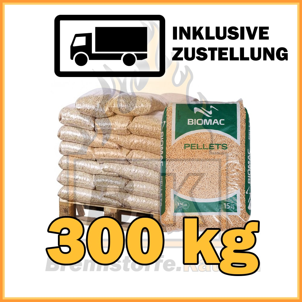 300kg holzpellets in 15kg plastiks cken inklusive zustellung brennstoffe kaufen. Black Bedroom Furniture Sets. Home Design Ideas