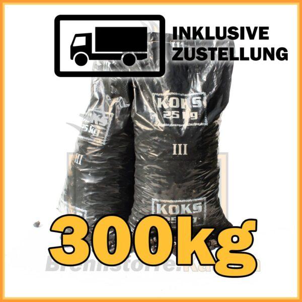 300kg Hüttenkoks Brech 3 (20 bis 40mm) 25kg Sack
