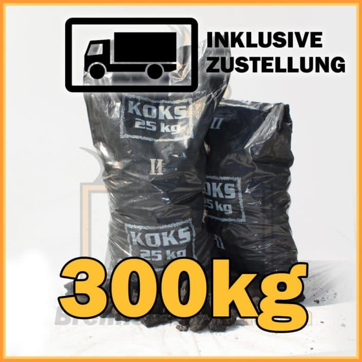 300kg Hüttenkoks Brech 2 (40 bis 60mm) 25kg Sack