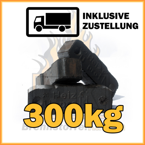 300kg Union Briketts in 10kg Paketen