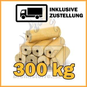 300 kg Weichholzbriketts mit Loch in 10 kg Paketen