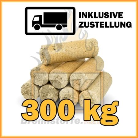 300 kg Weichholzbriketts ohne Loch in 10 kg Paketen