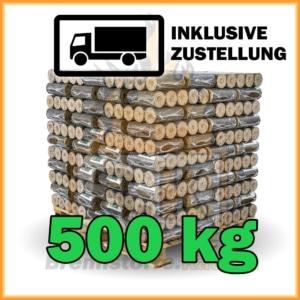 500 kg Hartholzbriketts mit Loch in 10 kg Paketen mit Lieferung