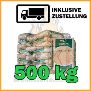 500 kg Holzpellets kaufen in 15 kg Säcke