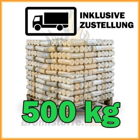 500 kg Weichholzbriketts ohne Loch in 10 kg Paketen