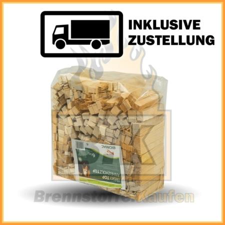 Anzündholz in 6 kg Taschen - 100% Fichtenholz