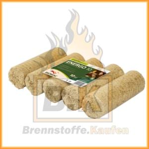Holzbriketts hell ohne Loch - BIOMAC Energo 10
