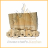Holzbriketts hell mit Loch 2 x 10kg Pakete