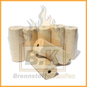 Holzbriketts hell mit Loch 1x10kg Paket