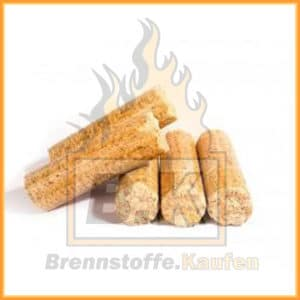 Holzbriketts hell ohne Loch