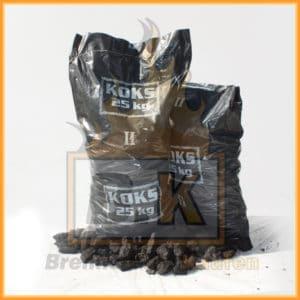 Hüttenkoks Brech 2 (40 bis 60mm) 25kg Sack
