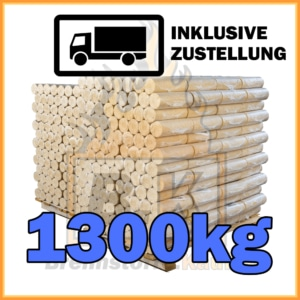 1300kg Holzbriketts hell ohne Loch