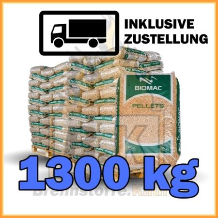 1300kg Holzpellets geliefert in 15kg Plastiksäcken