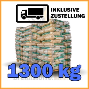 1300 kg Holzpellets Sackware ENplus A1