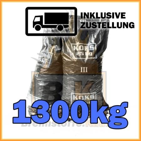 1300kg Hüttenkoks Brech 3 geliefert in 25kg Plastiksäcken
