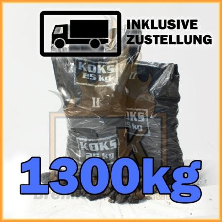1300kg Hüttenkoks Brech 2 geliefert in 25kg Plastiksäcken