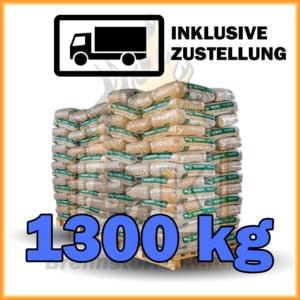 1300 kg Pellets Sackware Fichtenholz