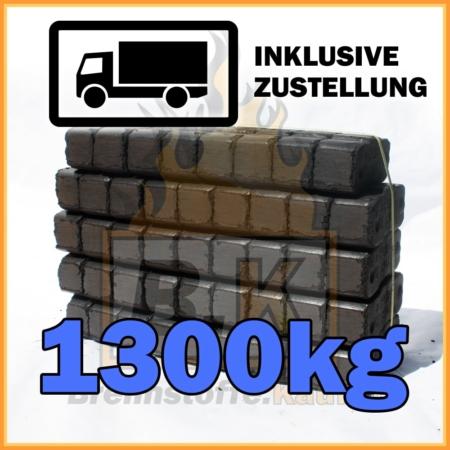 1300kg Rekord Braunkohle Briketts geliefert in 25kg Bündel