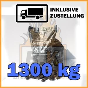 1300 kg Steinkohle Nuss 1 - Mit Lieferung
