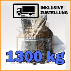 1300 kg Steinkohle Nuss 1 mit Lieferung
