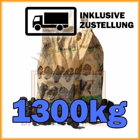 1300kg Steinkohle Nuss 1 geliefert in 10kg Papiersäcken