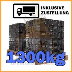 1300kg Union Braunkohle Briketts geliefert in 10kg Plastikpaketen
