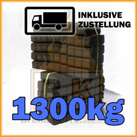 1300kg Union Braunkohle Briketts geliefert in 25kg Bündel