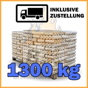 1300 kg Weichholzbriketts mit Lieferung