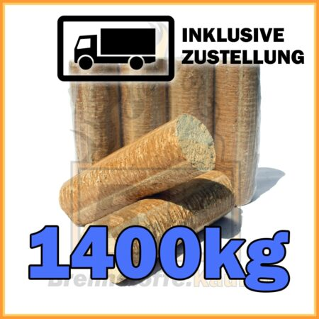 1400kg Holzbriketts hell ohne Loch