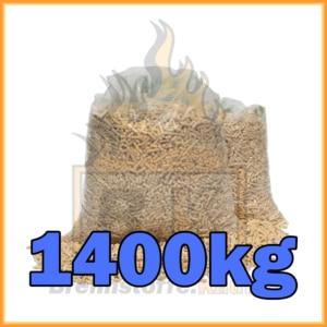 1400kg Holzpellets geliefert in 15kg Plastiksäcken