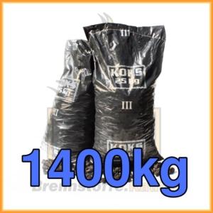 1400kg Hüttenkoks Brech 3 (20 bis 40mm) 25kg Sack