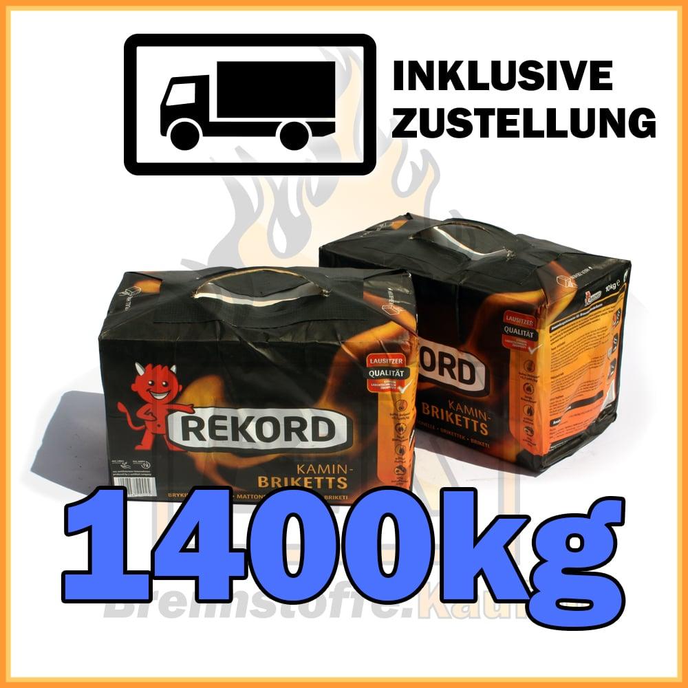 1400kg rekord briketts braunkohle in 10kg paketen inklusive zustellung brennstoffe kaufen. Black Bedroom Furniture Sets. Home Design Ideas
