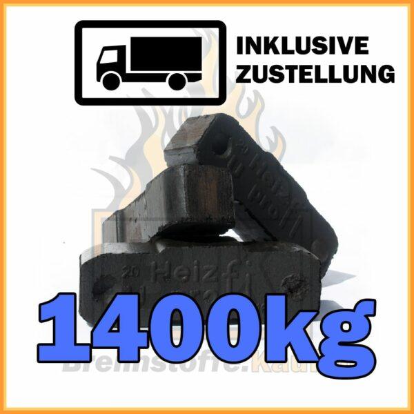 1400kg Union Briketts in 10kg Pakete