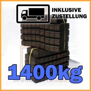 1400kg Union Briketts in 25kg Bündel