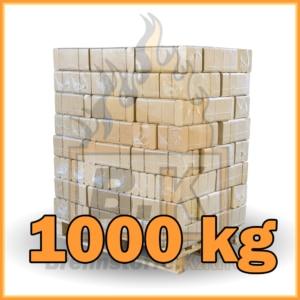 1000 kg Buchenholzbriketts ziegelform RUF mit Lieferung