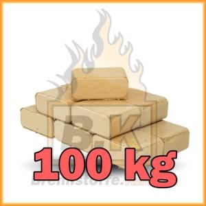 100 kg Buchenholzbriketts ziegelform RUF mit Lieferung