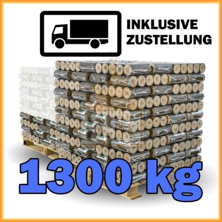 130 Pakete Hartholzbriketts mit Lieferung