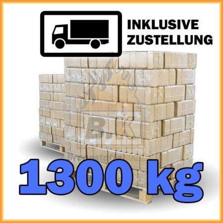 1300 kg Buchenholzbriketts ziegelform RUF mit Lieferung - 130 Pakete á 10 kg