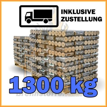 1300kg Holzbriketts dunkel ohne Loch geliefert in 10kg Paketen