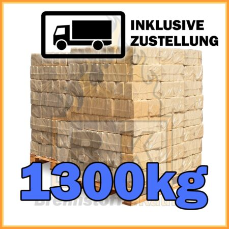 1300kg Holzbriketts ziegelform geliefert in 10kg Paketen