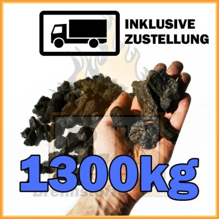 1300kg Hüttenkoks Brech 3 geliefert in 10kg Papiersäcken