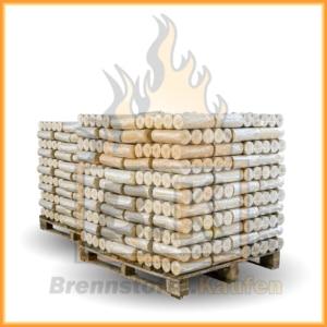 1300 kg Weichholzbriketts ohne Loch inklusive Lieferung