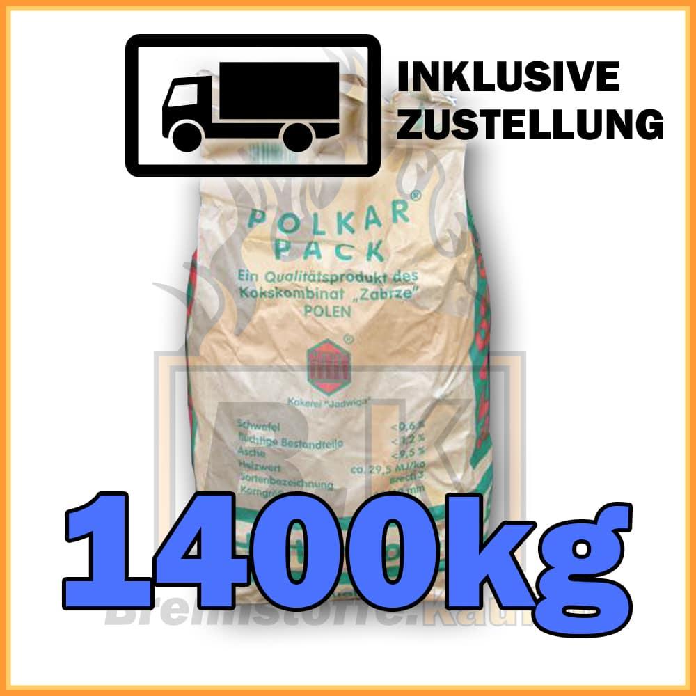 1400kg h ttenkoks brech 3 in 10kg papiers cken inklusive. Black Bedroom Furniture Sets. Home Design Ideas