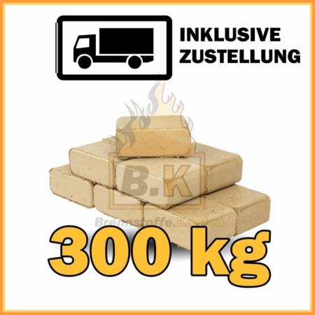 300 kg Buchenholzbriketts ziegelform RUF mit Lieferung - 30 Pakete á 10 kg