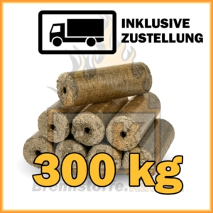 300 kg Hartholzbriketts mit Loch in 10 kg Paketen mit Lieferung