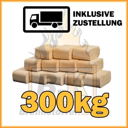 300kg Holzbriketts Buche ziegelform in 10kg Paketen